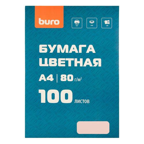 Бумага Buro BURO-100Р A4/80г/м2/100л./розовый