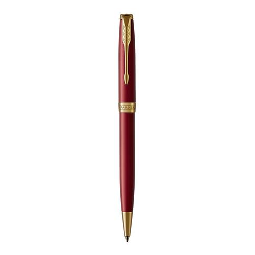 Ручка шариковая Parker Sonnet Core K539 (1931476) LaqRed GT M черные чернила подар.кор. шариковая ручка поворотная parker sonnet core k539 laqred gt черный m 1931476