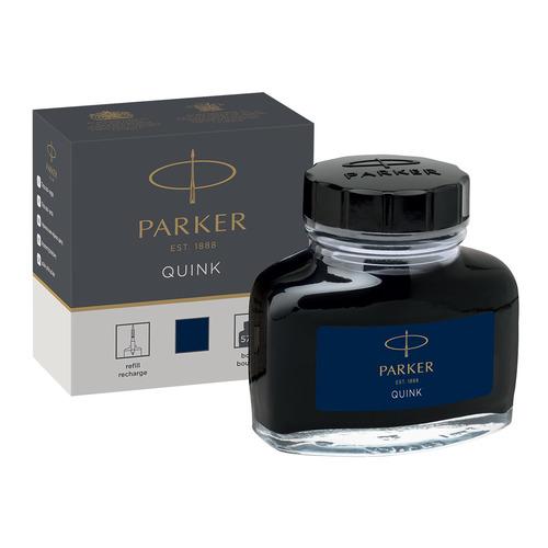 Флакон с чернилами Parker Quink Ink Z13 (1950378) черный/синие чернила 57мл для ручек перьевых флакон с чернилами parker quink ink z13 синие чернила 57мл для ручек перьевых 1950376