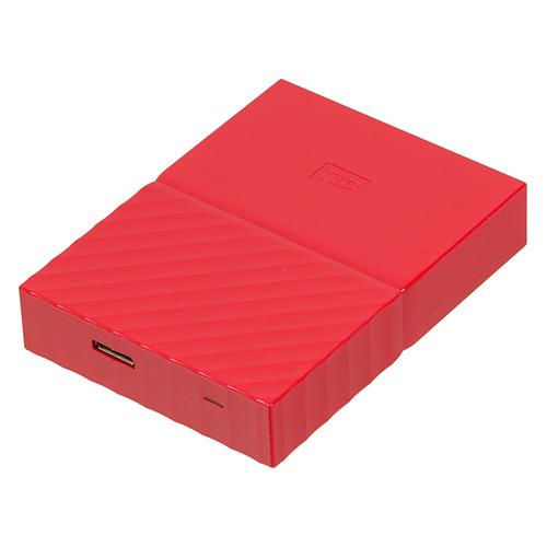 Внешний жесткий диск WD My Passport WDBUAX0040BRD-EEUE, 4Тб, красный 2 5 2000gb wd my passport wdbuax0020bbl eeue usb3 0 синий