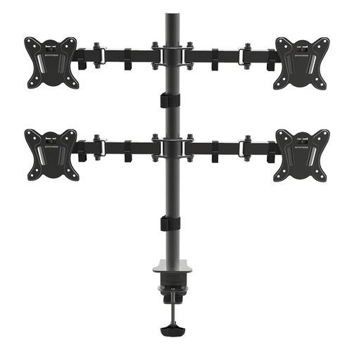 Фото - Кронштейн для мониторов Arm Media LCD-T14 черный 15-32 макс.24кг настольный поворот и наклон верт. кронштейн для мониторов arm media lcd t14 black