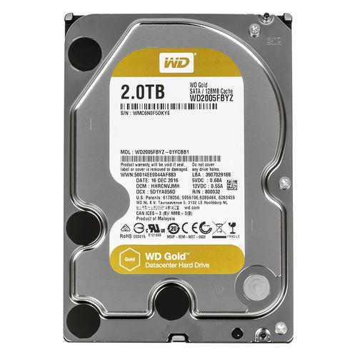 Жесткий диск WD Gold WD2005FBYZ, 2Тб, HDD, SATA III, 3.5