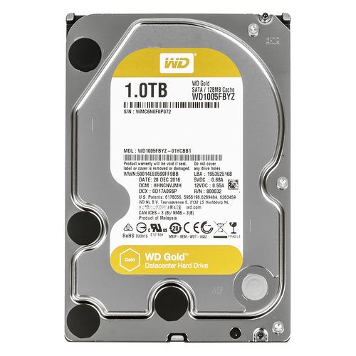 Жесткий диск WD Gold WD1005FBYZ, 1Тб, HDD, SATA III, 3.5