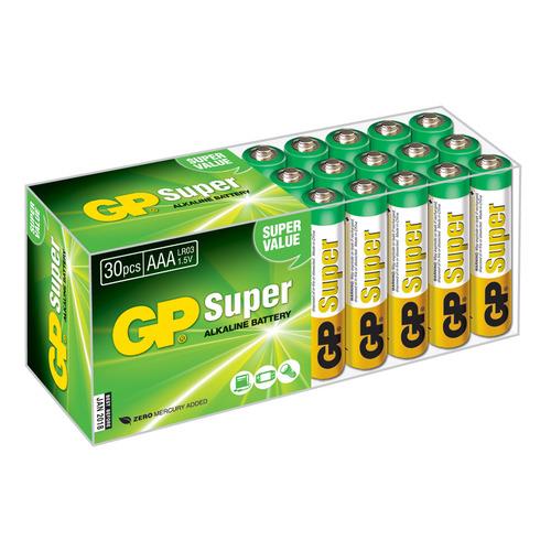 AAA Батарейка GP Super Alkaline 24A LR03, 30 шт. цена и фото