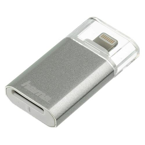 Картридер внешний HAMA серебристый [00124155] устройства чтения карт памяти