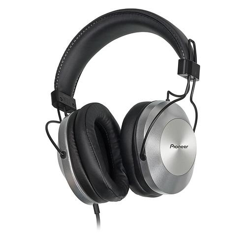Наушники с микрофоном PIONEER SE-MS5T-S, 3.5 мм, мониторы, серебристый все цены