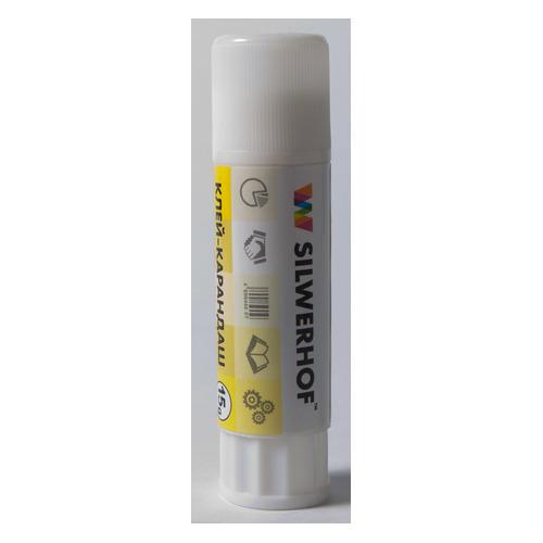 Клей-карандаш Silwerhof 436415 15гр ПВП дисплей картонный 24 шт./кор. клей карандаш silwerhof 431052 08 8гр пва термоусадочная упаковка народная коллекция 24 шт кор