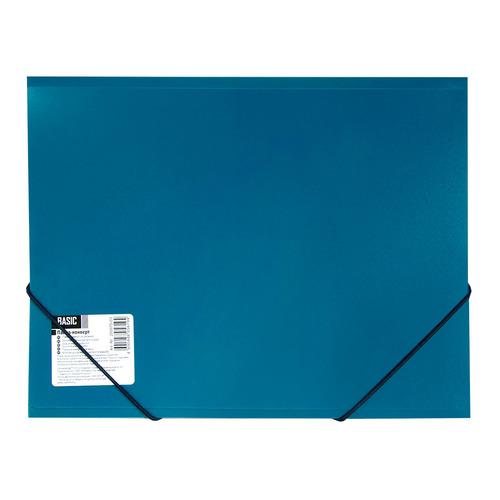 купить Папка на резинке Silwerhof Basic 255075-02 1 отдел. A4 пластик 0.5мм синий 5 шт./кор. онлайн