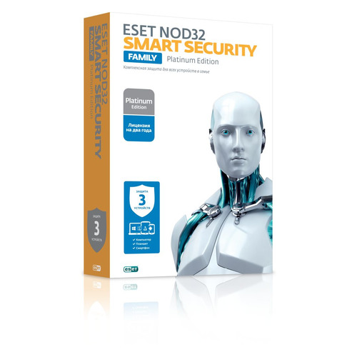 ПО Eset NOD32 Smart Security Family Platinum Edition 3 устройства 2 годa Box (NOD32-ESM-NS(BOX)-2-3) по для сервиса м видео office 365 home eset smart security family 5у 1г