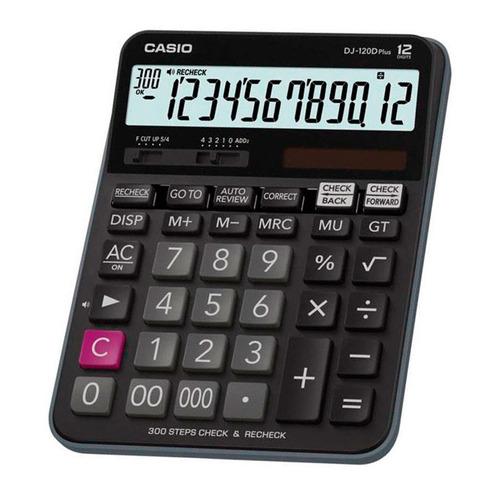 цена Калькулятор CASIO DJ-120D PLUS, 12-разрядный, черный онлайн в 2017 году