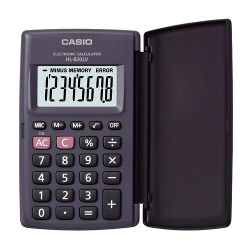 лучшая цена Калькулятор CASIO HL-820LV, 8-разрядный, черный