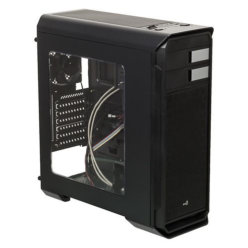 Корпус ATX AEROCOOL AERO-500 WINDOW, Midi-Tower, без БП, черный корпус aerocool aero 500 window white без бп