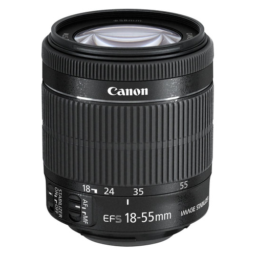 Объектив CANON 18-55mm f/3.5-5.6 EF-S IS STM, Canon EF-S, черный [8114b005] new original lens bayonet mount ring repair for canon ef s 18 55mm f 3 5 5 6 is stm lens without cable