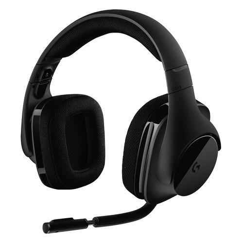 лучшая цена Гарнитура игровая LOGITECH G533, для компьютера, мониторы, радио, черный [981-000634]