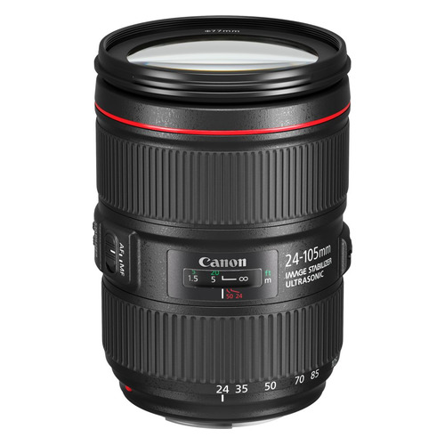 Объектив CANON 24-105mm f/4L EF IS II USM, Canon EF [1380c005] объектив canon ef 16 35 mm f 4l is usm