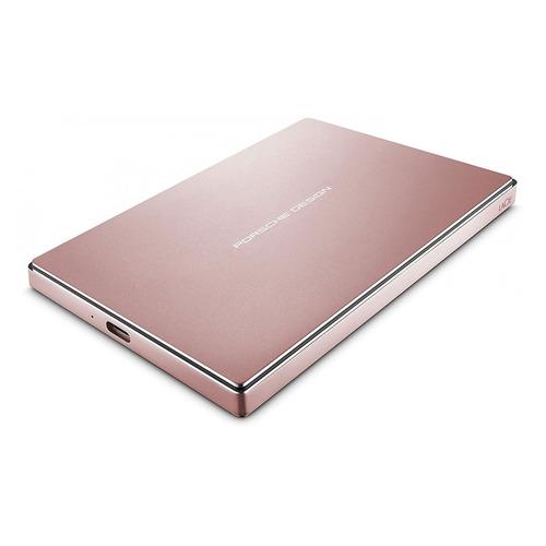 Внешний жесткий диск LACIE Porsche Design Mobile STFD2000406, 2Тб, розовое золото жесткий диск lacie porsche design p9230 3tb 302003ek