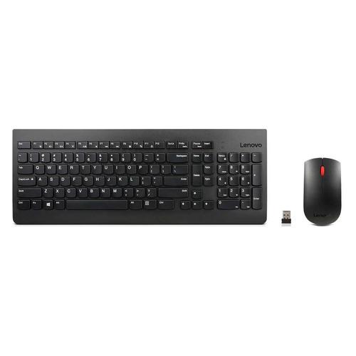 лучшая цена Комплект (клавиатура+мышь) LENOVO Essential, USB, беспроводной, черный [4x30m39487]