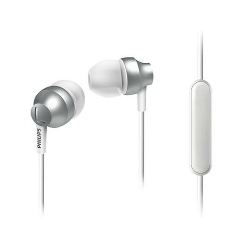 Гарнитура PHILIPS SHE3855SL/00, вкладыши, серебристый, проводные