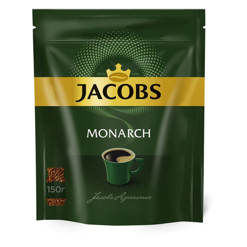 Кофе растворимый JACOBS MONARCH 150грамм [4251903]