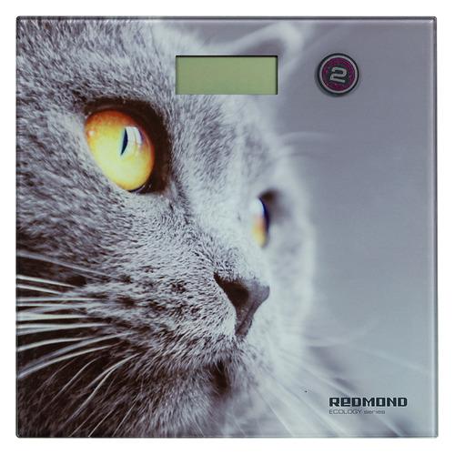 Напольные весы REDMOND RS-735, до 180кг, цвет: рисунок [rs-735 (кошка)]