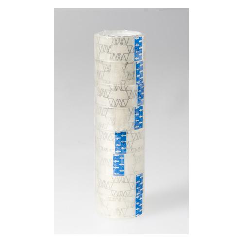 Клейкая лента канцелярская Silwerhof 481057 прозрачная шир.18мм дл.10м 35мкр полипропилен спайка 600 шт./кор. клейкая лента action декоративный 18мм 1 5м 3шт в блистере