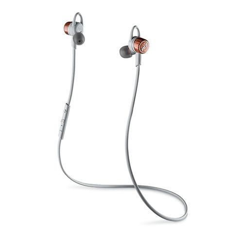 Наушники с микрофоном PLANTRONICS BackBeat Go 3, Bluetooth, вкладыши, белый/оранжевый [204351-05] bluetooth гарнитура plantronics backbeat go 3 зарядный чехол черно синий