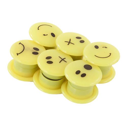 Фото - Магнит для досок Silwerhof 658007 пластик желтый d=20мм смайлы (упак.:12шт) 24 шт./кор. сковорода d 24 см moulinvilla домашний es 24 d