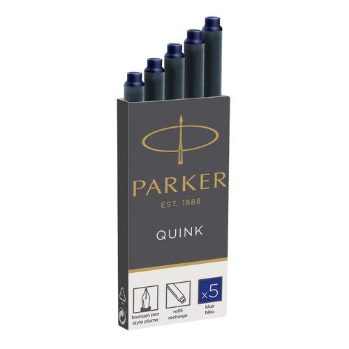 Картридж Parker Quink Z11 (1950384) синие чернила для ручек перьевых (5шт) флакон с чернилами parker quink ink z13 синие чернила 57мл для ручек перьевых 1950376