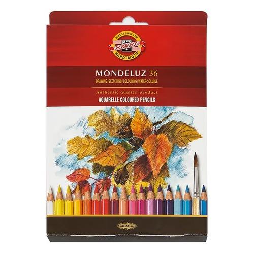 Фото - Упаковка карандашей цветных акварельных KOH-I-NOOR MONDELUZ 3719036001KZRU, шестигранные, 36 цв., коробка европодвес упаковка карандашей цветных акварельных deli 6522 6522 липа 36 цв коробка металлическая