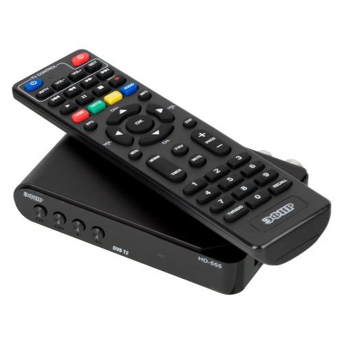 Ресивер DVB-T2 СИГНАЛ Эфир HD-555, черный