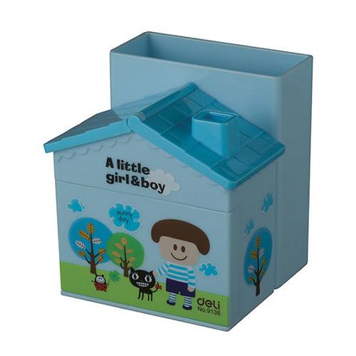 Фото - Упаковка подставок DELI Домик, для пишущих принадлежностей, пластик, ассорти [e9138] 24 шт./кор. упаковка мелков восковых deli colorun ec20810 ec20810 18 цветов 24 шт кор
