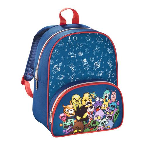 Рюкзак детский Hama MONSTERS синий/красный ранец hama monsters синий красный