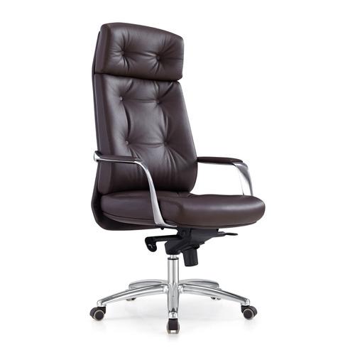 Кресло руководителя БЮРОКРАТ _DAO, на колесиках, кожа, коричневый [_dao/brown]