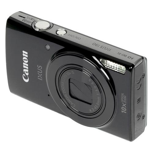 лучшая цена Цифровой фотоаппарат CANON IXUS 190, черный