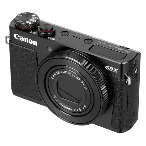 цена Цифровой фотоаппарат CANON PowerShot G9 X Mark II, черный онлайн в 2017 году