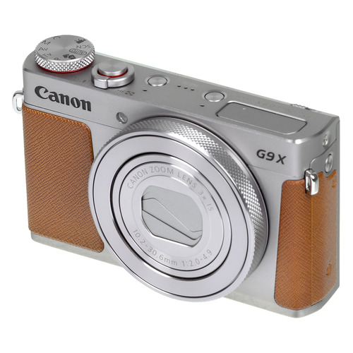 Цифровой фотоаппарат CANON PowerShot G9 X Mark II, серебристый/ коричневый 1718C002