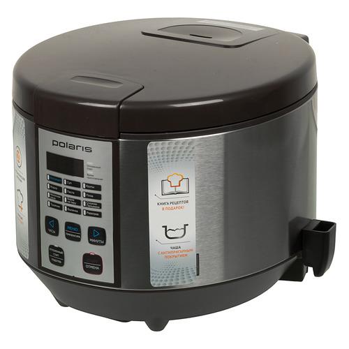 Мультиварка POLARIS PMC 0558AD, 700Вт, кофе цена и фото