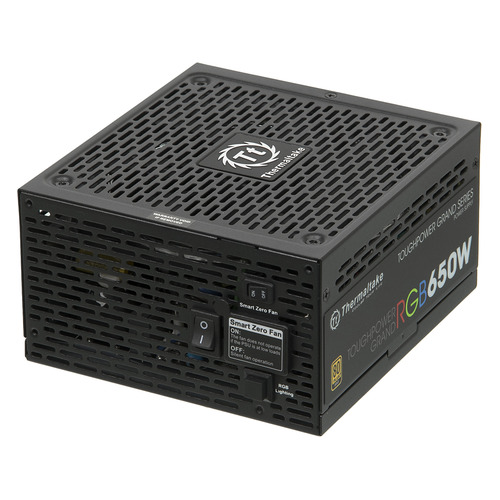 Блок питания THERMALTAKE Toughpower Grand RGB, 650Вт, 140мм, черный, retail [ps-tpg-0650fpcgeu-r] блок питания thermaltake toughpower grand rgb 750w ps tpg 0750fpcgeu r v2 4 a pfc 80 plus gold fan 14 см fully modular retail