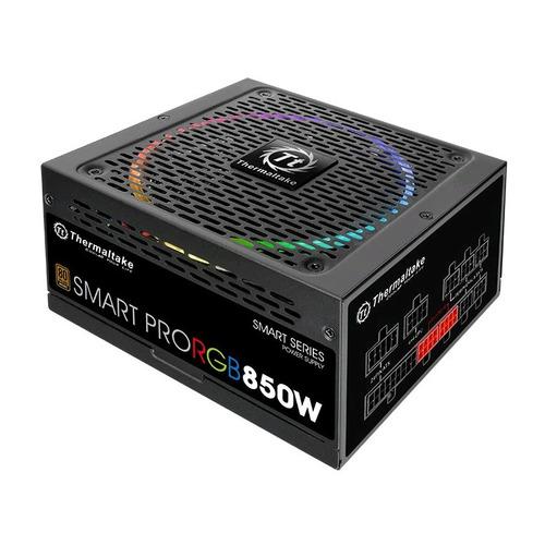 Блок питания THERMALTAKE SMART PRO RGB, 850Вт, 140мм, черный, retail [ps-spr-0850fpcbeu-r] цены