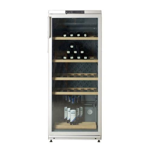 Винный шкаф АТЛАНТ ХТ 1008, однокамерный, серебристый