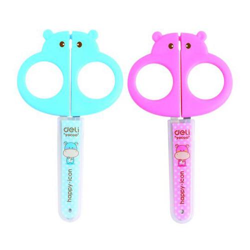 Фото - Упаковка ножниц DELI E6032 E6032 детские, 128мм, сталь, ассорти 12 шт./кор. упаковка ножниц maped 463010 детские 24 шт кор