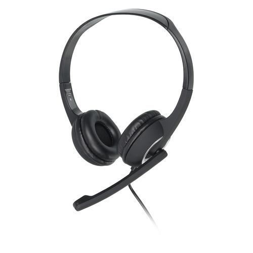 Гарнитура HAMA Essential HS 300, для контактных центров, мониторные, черный / серебристый [00053982] гарнитура