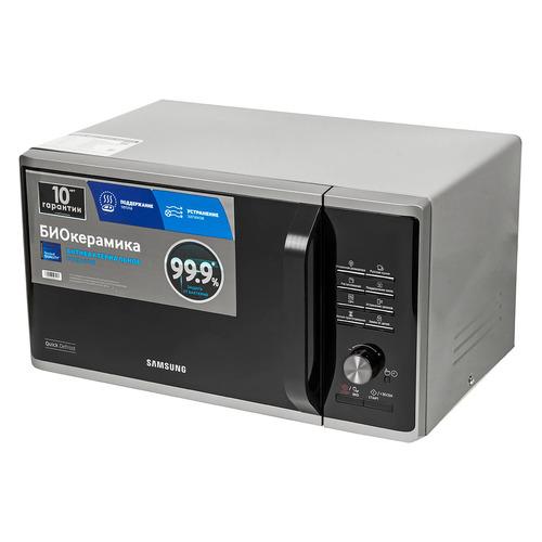 Фото - Микроволновая печь SAMSUNG MS23K3515AS/BW, 800Вт, 23л, серебристый микроволновая печь samsung ge 83krw 1 bw