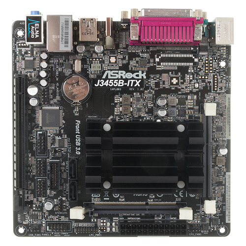 Материнская плата ASROCK J3455B-ITX, mini-ITX, Ret industrial pos mini itx motherboard atom n450 1 8g dual core four threads pos motherboard