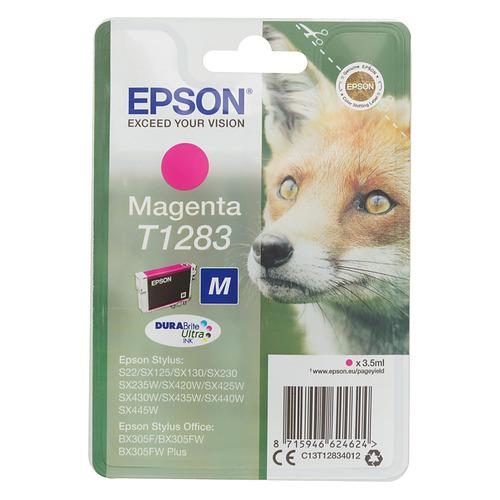 Картридж EPSON T1283, пурпурный [c13t12834012] epson epson t1283