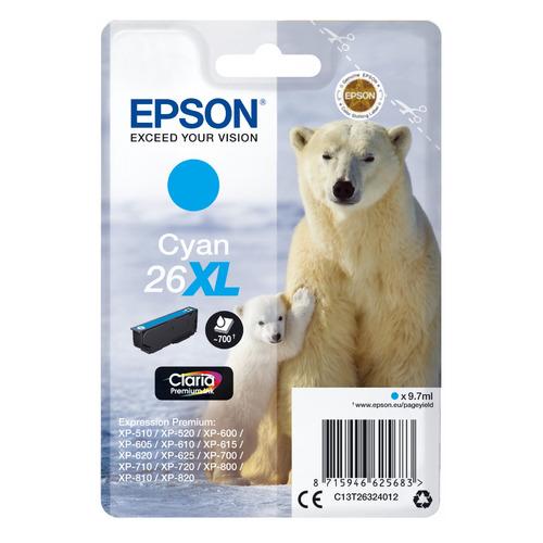 Картридж EPSON T2632, голубой [c13t26324012] картридж epson для xp600 7 8 c13t26324012 голубой