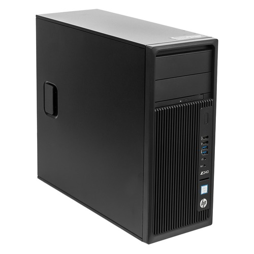 Рабочая станция HP Z240, Intel Core i5 7600, DDR4 4Гб, 1000Гб, Intel HD Graphics 630, DVD-RW, CR, Windows 10 Professional, черный [y3y77ea] рабочая станция hp z240 intel core i7 7700k ddr4 16гб 256гб ssd intel hd graphics 630 dvd rw cr windows 10 professional черный [y3y83ea]