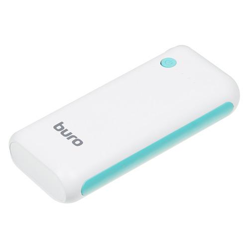 Фото - Внешний аккумулятор (Power Bank) Buro RC-5000WB, 5000мAч, белый/голубой аккумулятор buro rc 21000 белый коробка