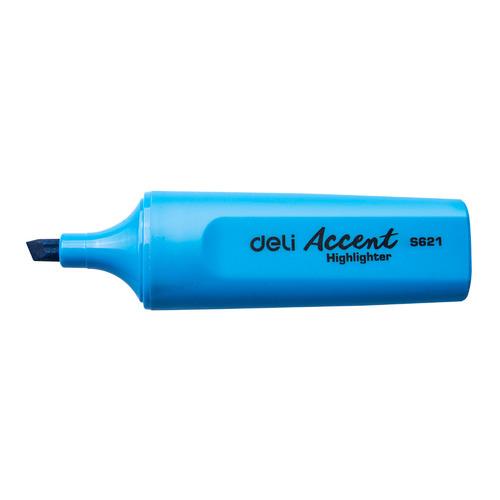 Текстовыделитель Deli Accent ES621BLUE Delight скошенный пиш. наконечник 1-5мм синий 10 шт./кор. текстовыделитель 1546 синий