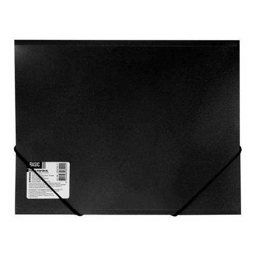 купить Папка на резинке Silwerhof Basic 255075-01 1 отдел. A4 пластик 0.5мм черный 5 шт./кор. онлайн